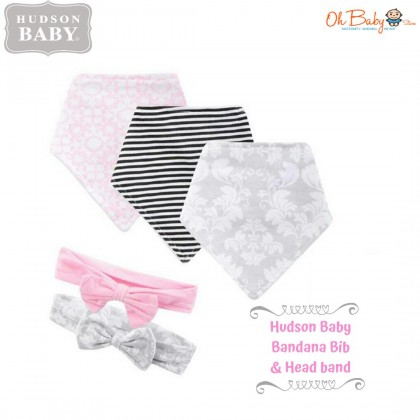 Hudson Baby (Bib & Socks Set/Bandana Bib & Headband Set)