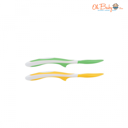 Dr Brown's Soft Tip Spoon 2pk Yellow/Green