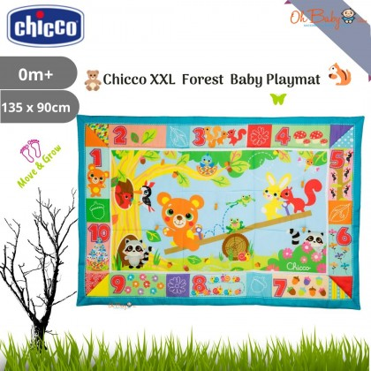 Chicco XXL Forest/Fantasy Forest Baby Playmat from newborn 0m+ (135 x 90 cm)