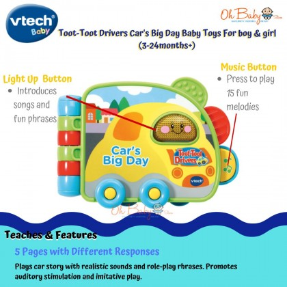 Vtech Toot-Toot Drivers Car's Big Day Baby Toy For Boy & Girl (3-24months)