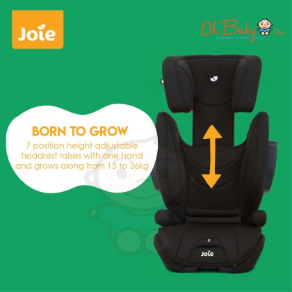 Joie Traver HighBack isosafe Baby Booster Car Seat 15kg- 36kg (Coal)
