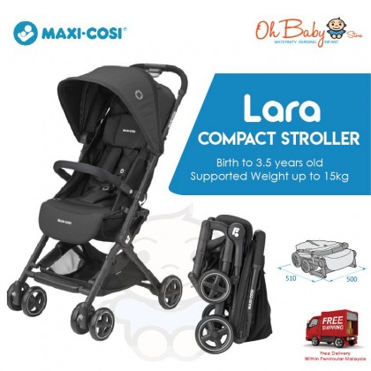 Maxi Cosi Lara Ultra Compact Travel Baby Stroller (3 - 5 years From 0 to 15 kg) [ Essential Black ]