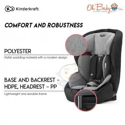 Kinderkraft Safety Fix Baby Car Seat with ISOFIX for children weighing 9-36 kg