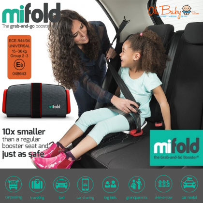 mifold the grab-and-go booster Seat Group 2/3 for kid 4 year+ (from15kg-36kg)
