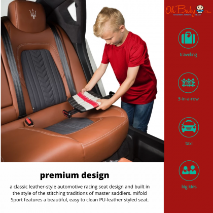 mifold Sport the Luxury Grab-and-Go Booster Seat Group 2/3 for kid 4 year+(from15kg-36kg)