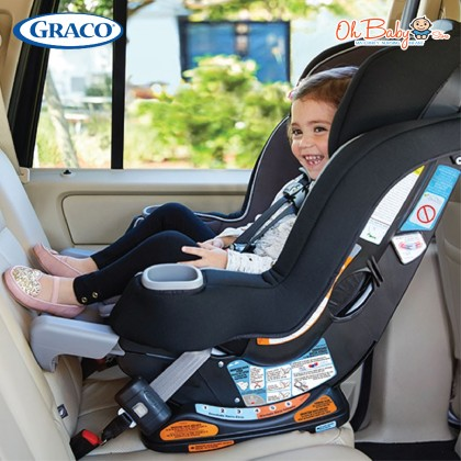 Graco Extend2fit Platinum Convertible Baby Car Seat With EZ Tight Latch For Newborn Up To 29 Kg (Colour-Carlen)
