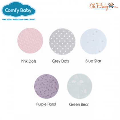 Comfy Baby - Fitted Sheet 24''x48'' Pink Dot  (S)