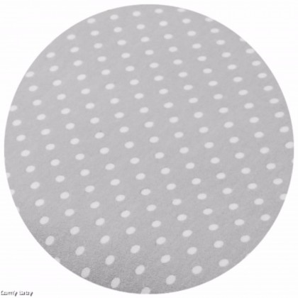 Comfy Baby - Fitted Sheet 24''x48'' Grey Dot  (S)