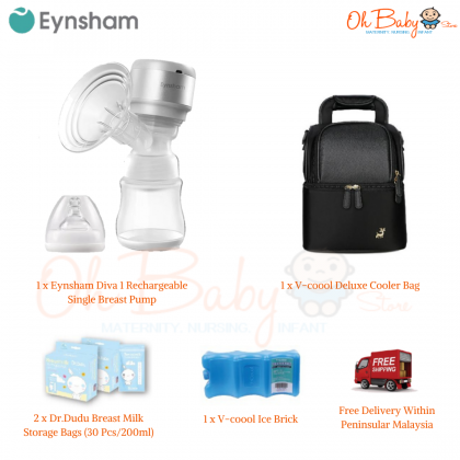 Eynsham Diva 1 Rechargeable Single Breast Pump (Pump only/ With Freegift)