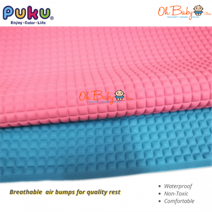 Puku Air Filled Rubber Cot Sheet for Baby 60cm x 90cm (Pink/Blue)