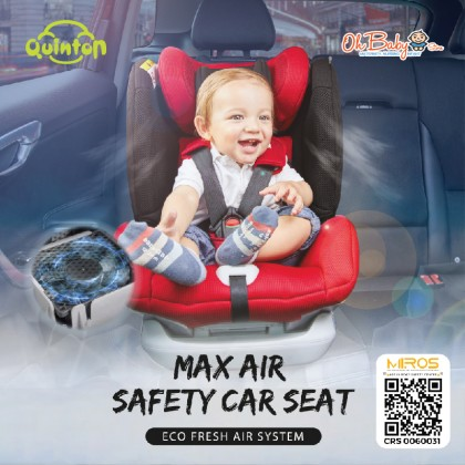 Quinton Max Air Safety Baby Car Seat Group 0+,1,2,3 Weight 0-36kg Age 0-10 Years