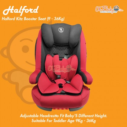 Halford Kitz Isofix Baby Booster Car Seat (9-36kg) 5 Year Warranty