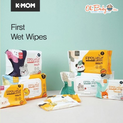 K Mom First Wet Wipes All Purposes Surfaces Wipes 40pcs