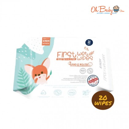 K Mom First Wet Wipes Hand & Mouth Wipes 20pcs