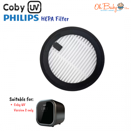 (Philip) Coby UV Replacement UV-C Bulb & HEPA Filter for Coby UV Sterilizer Version 2 only