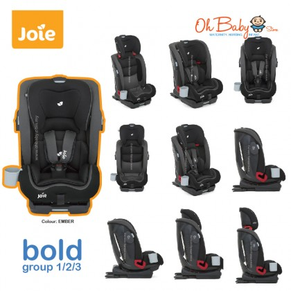 Joie Bold Baby Car Seat (Group 1/2/3 9-36kg) [ 9 months-12 years old ] Colour EMBER
