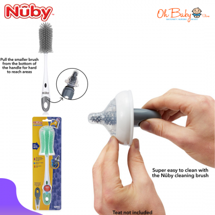 Nuby Silicone Bottle & Nipple Brush with Looped Handle