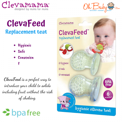 Clevamama Clevafeed Replacement Teat 2pcs for Clevamama Feeder