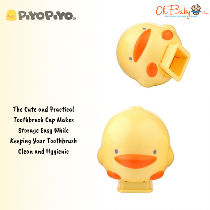 Piyo Piyo Duckling Toothbrush Cap 2pcs for Piyo Piyo Toothbrush
