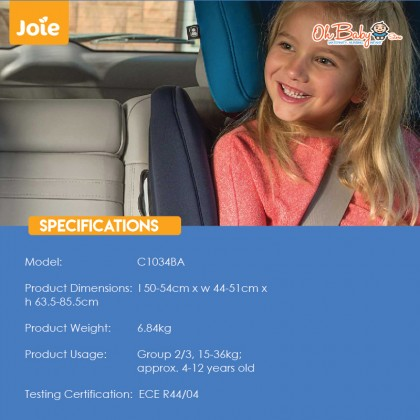 Joie Duallo HighBack Baby Booster Car Seat with Isofix- 15kg till 36kg