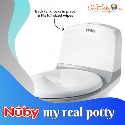 Nuby My Real Potty Mini Size Toilet for Baby boys & Girls (18m+)