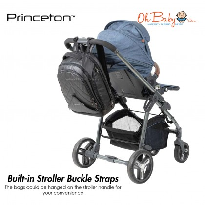 Princeton Urban Dad Pro Baby Diaper Bag - BLACK