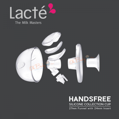 Lacte Handsfree Silicone Collection Cup 27mm with 24mm Insert (1 pair)