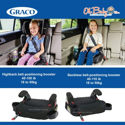 Graco TurboBooster LX Baby Car Seat 18 to 50kg