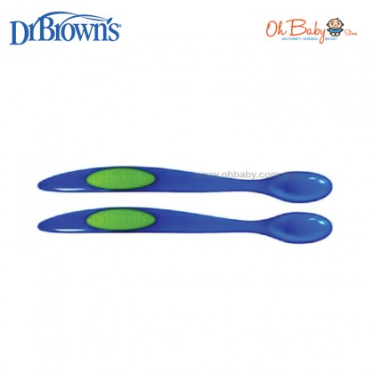 Dr Browns Infant Feeding Baby Toddler Spoon - Pink/Blue (2-pack) BPA Free
