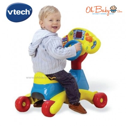 Vtech Baby 3 in 1 Grow and Go Ride On (6 -36 Months) with Free Gift