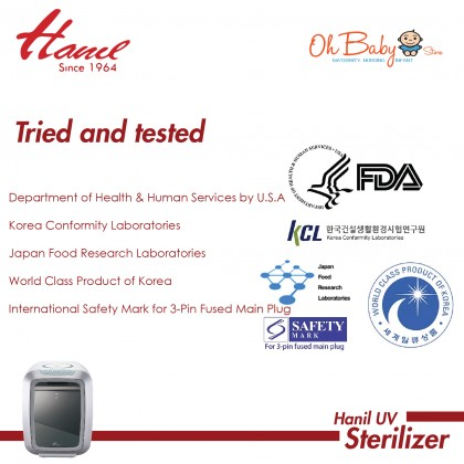 Hanil Replacement Parts Set for UV Sterilizer