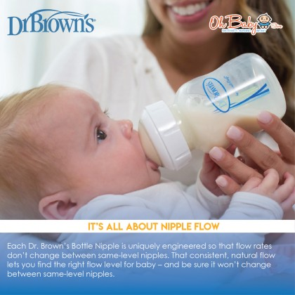 Dr. Brown's Options + Wide-Neck Baby Bottle PESU 9oz  270ml / 5oz  150ml