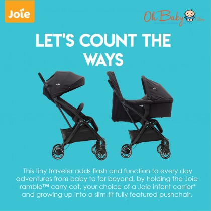 Joie Baby Stroller Tourist + Joie Baby Infant Carrier I-Snug Combo Package