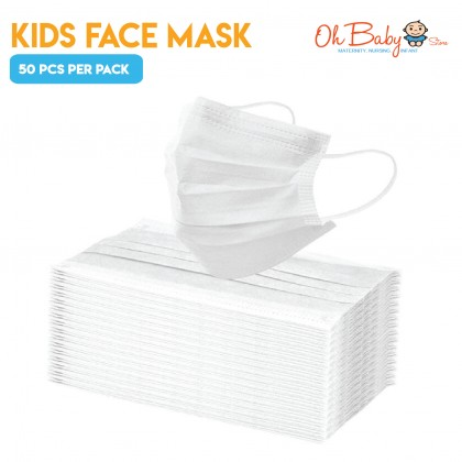 3ply Kids Face Mask 50 Pcs Per Pack Anti Virus Disposable Face Mask For Children