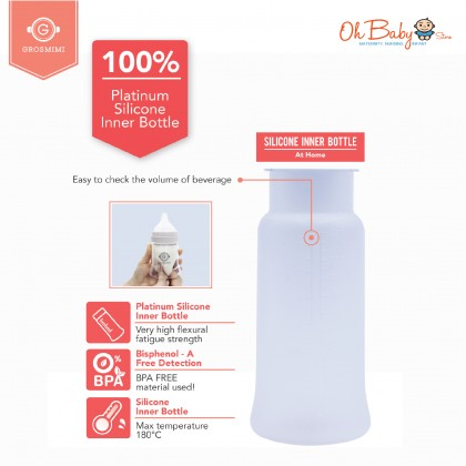 Grosmimi Silicone & Disposable Bottle 250ml