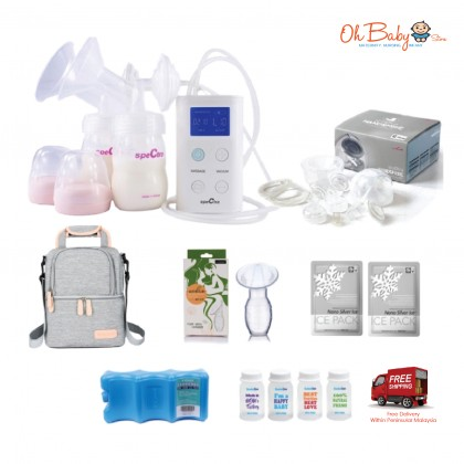 Spectra 9 Plus Double Electric Breast Pump with Spectra Handsfree Package