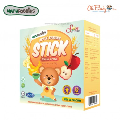 Natufoodies Baby Finger Food-Natural Food Stick- Apple Banana
