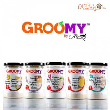 Groomy Organic Instant Oatmeal Powder 200g for Baby 6 months+