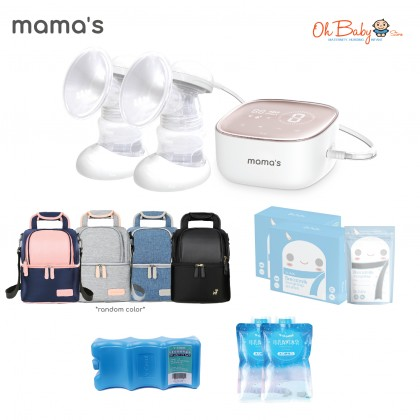 Mama's S7 Double Rechargeable Breast Pump Package
