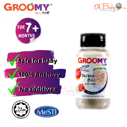 Groomy Anchovy Powder 100g for 7 months+