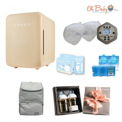 Freemie Liberty Mobile Hands Free Double Electric Breast Pump with Upang Plus UV Steriliser and Hagen Basic Starter Set Package