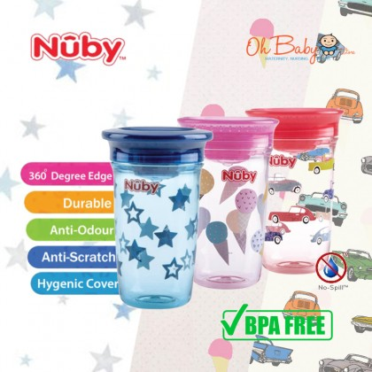 Nuby 360 Wonder Cup with Hygienic Cover 300ml/10oz