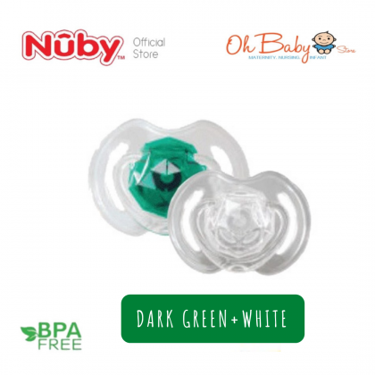 Nuby Little Gems Classic Orthodontic 2 Pacifiers For Baby 0-6 Months