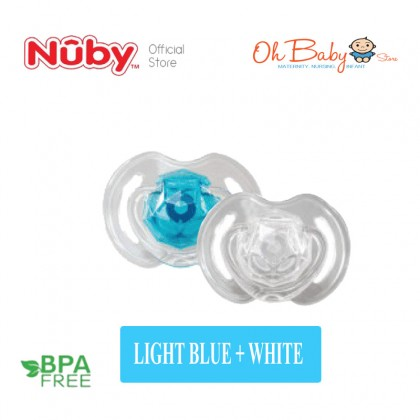 Nuby Little Gems Classic Orthodontic 2 Pacifiers For Baby 6-18 Months