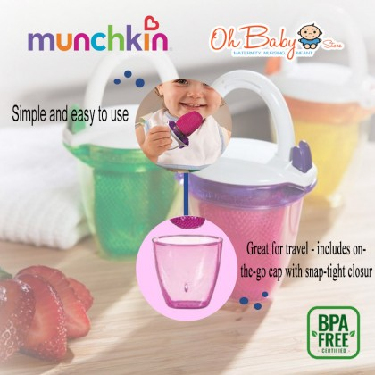 Munchkin Fresh Feeder + Food Feeder with Lid For Baby 6 months +