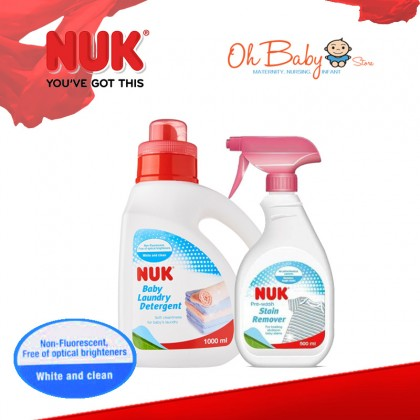 NUK Detergent 1L + Stain Remover 500ml