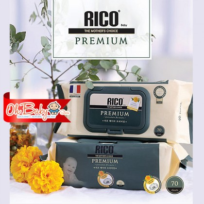 Rico Baby Premium Wipes 70 sheets (75 gsm)