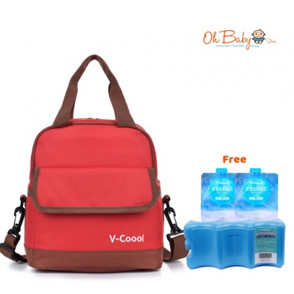 V-Coool Double Layer Cooler Bag (FREE 1 x IceBrick & 2 x Ice packs)