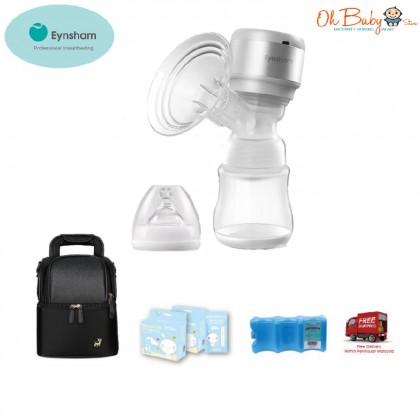 Eynsham Diva 1 Rechargeable Single Breast Pump Package with Free Gift
