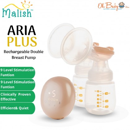 Malish Aria Plus Rechargeable Double Electric Breast Pump (Pump Only)